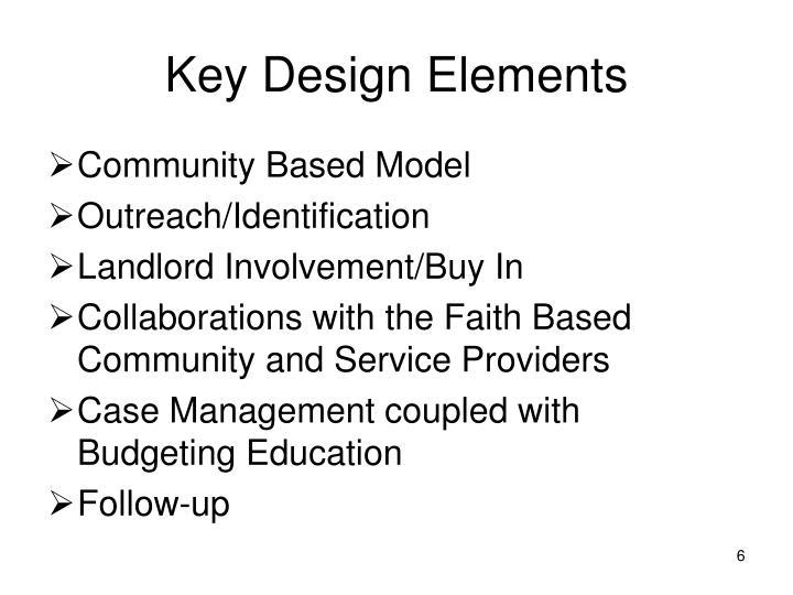 Key Design Elements