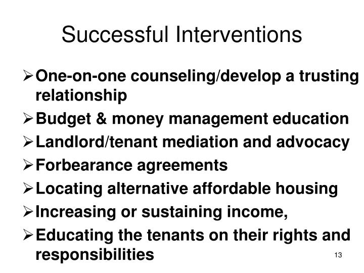 Successful Interventions