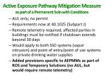active exposure pathway mitigation measure as part of a permanent soln with conditions