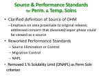 source performance standards for perm temp solns