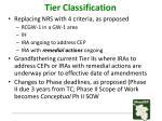 tier classification