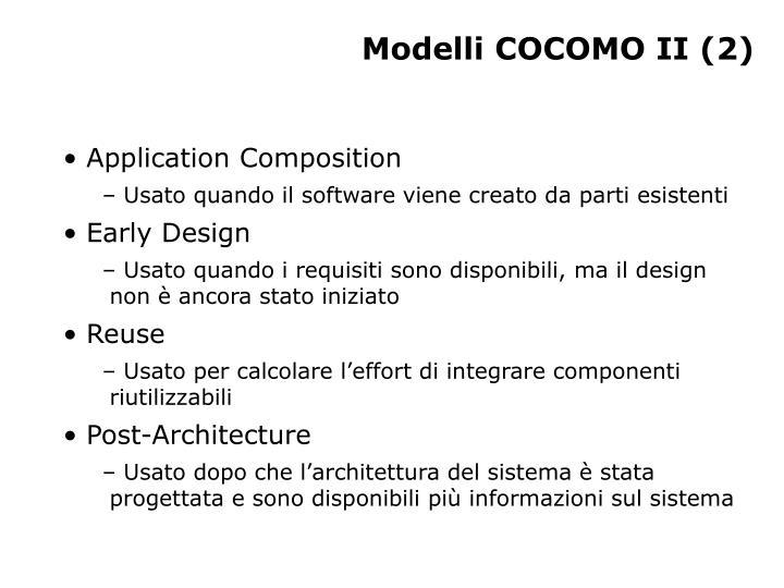 Modelli COCOMO II (2)