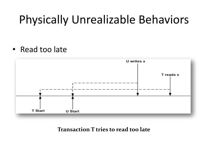 Physically Unrealizable Behaviors