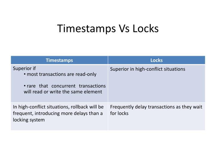Timestamps Vs Locks