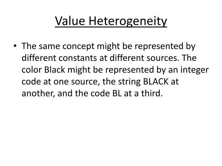 Value Heterogeneity