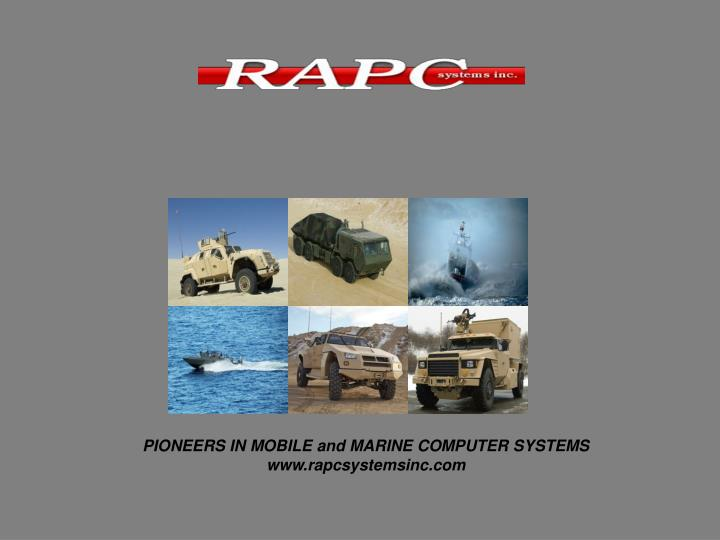 PIONEERS IN MOBILE and MARINE COMPUTER SYSTEMS