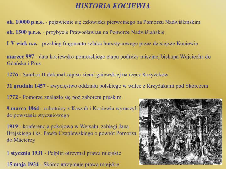 HISTORIA KOCIEWIA