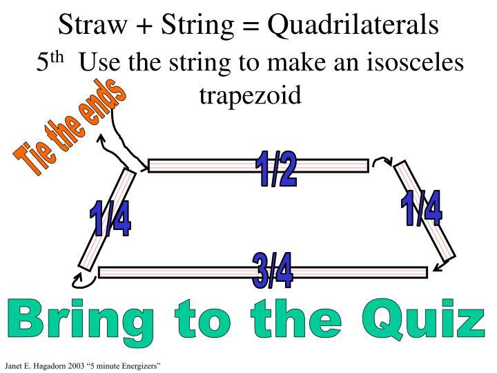 Straw + String = Quadrilaterals