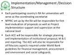 implementation management decision structure