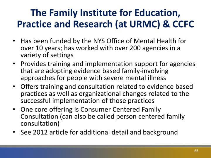 The Family Institute for Education, Practice and Research (at