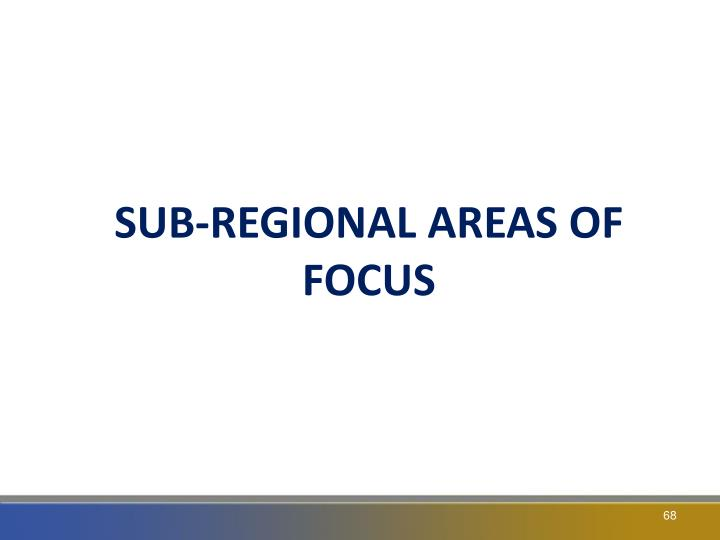 SUB-REGIONAL AREAS OF FOCUS