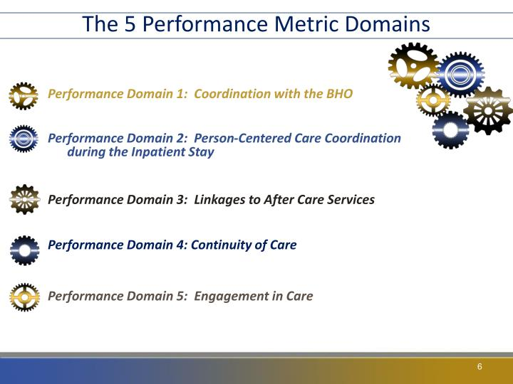 The 5 Performance Metric Domains
