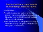 badania kontrolne w czasie leczenia reumatoidalnego zapalenia staw w3