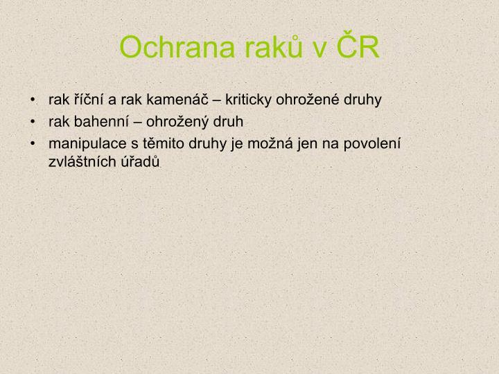 Ochrana raků v ČR