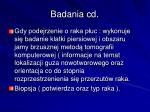badania cd