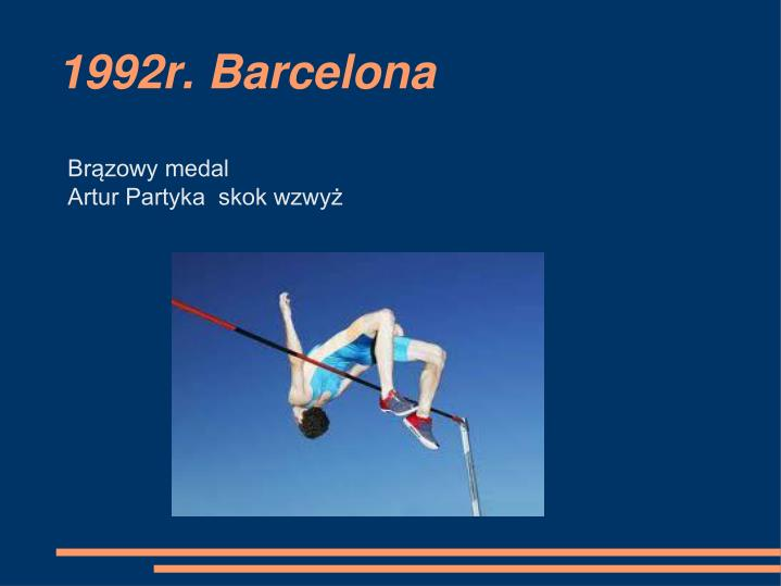 1992r. Barcelona