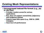 existing mesh representations