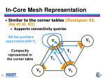 in core mesh representation
