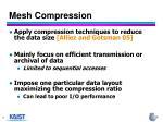 mesh compression