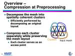 overview compression at preprocessing