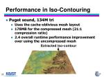 performance in iso contouring