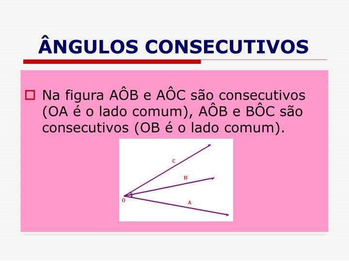 ÂNGULOS CONSECUTIVOS