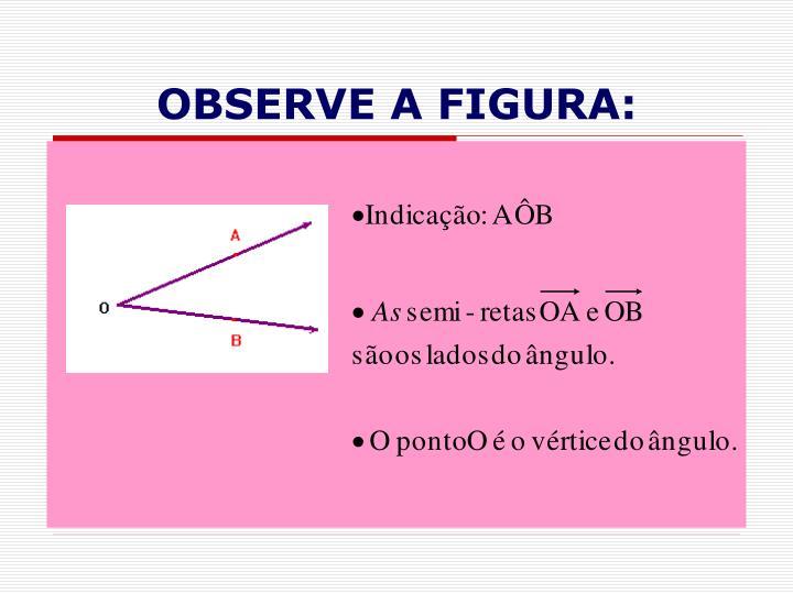 Observe a figura