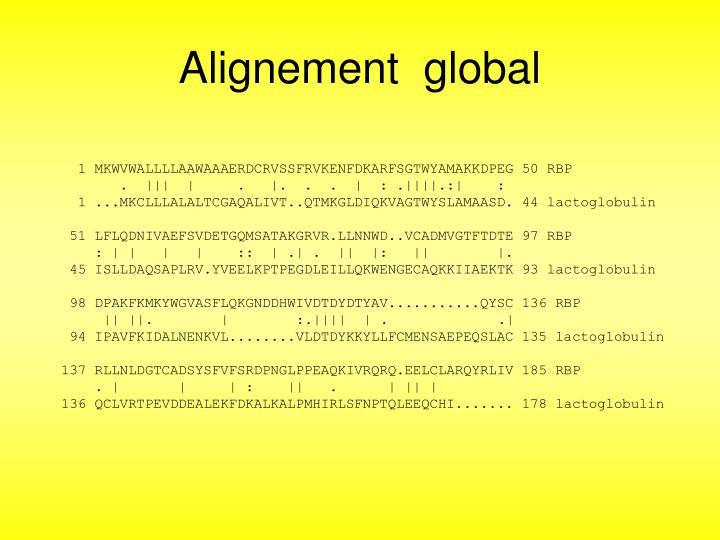 Alignement  global