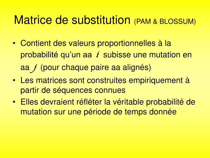 Matrice de substitution