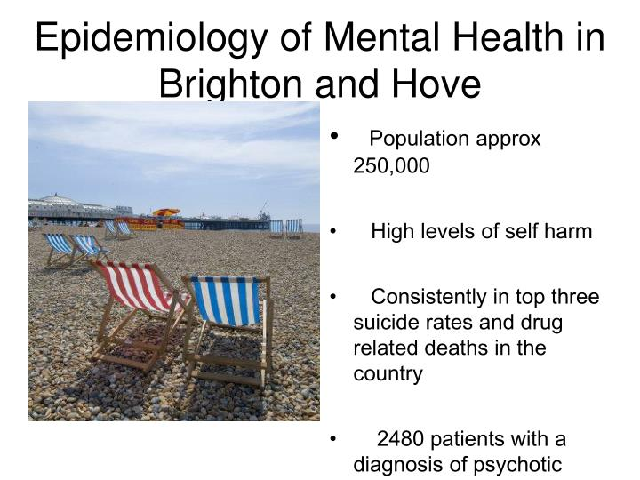 Epidemiology of mental health in brighton and hove