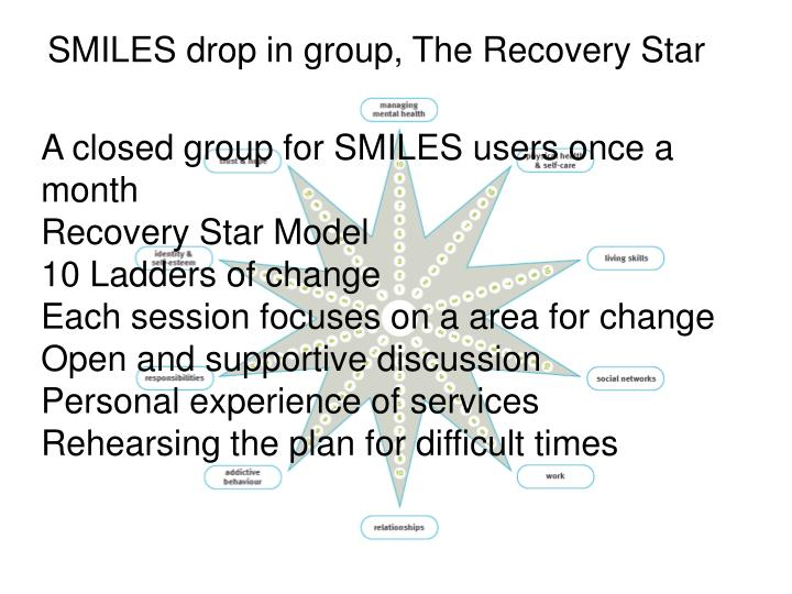 SMILES drop in group, The Recovery Star