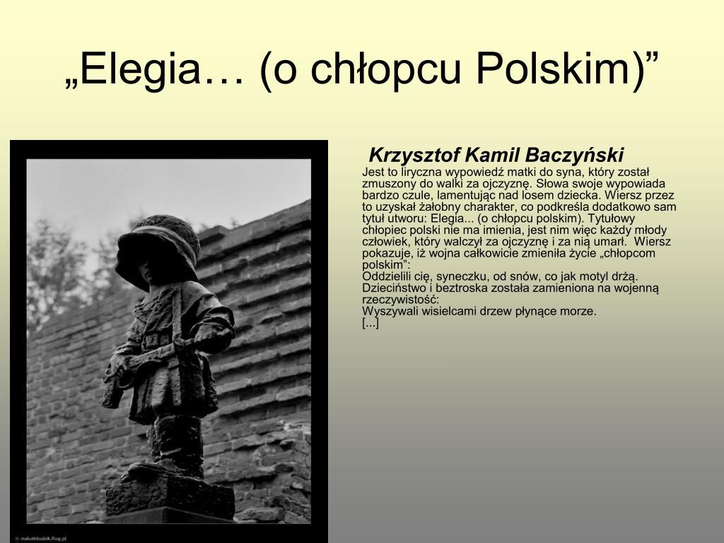 Ppt Obraz Wojny I Okupacji W Literaturze Polskiej