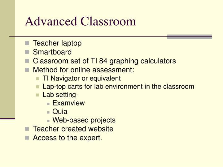 Advanced Classroom