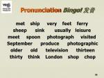 pronunciation bingo