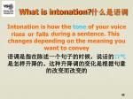 what is intonation