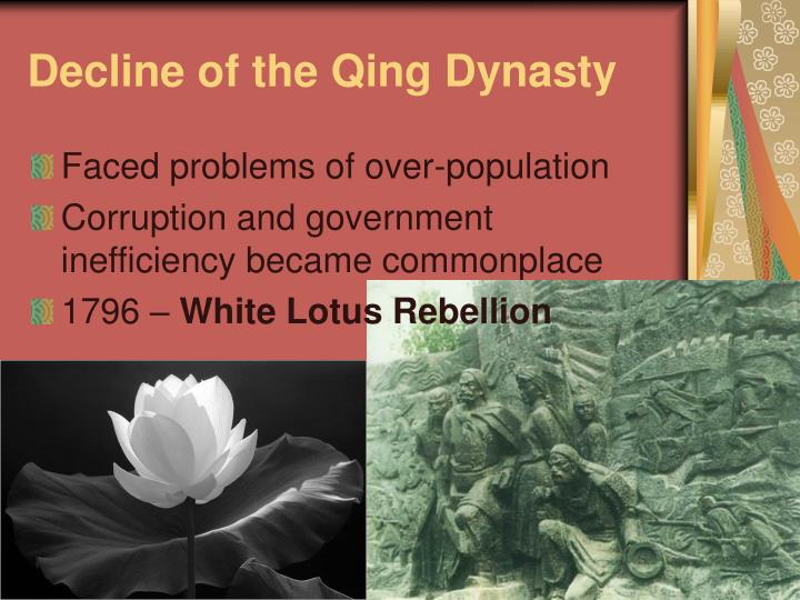 corruption in the qing government and the The qing dynasty china — qing / manchu  in 1839, when the qing government realized the harm being done by the opium trade, they decided to ban the use and import of opium  white lotus rebellion—buddhist mad at government taxes and corruption.