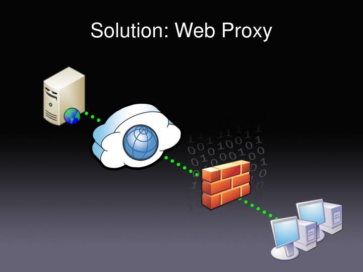 Solution: Web Proxy