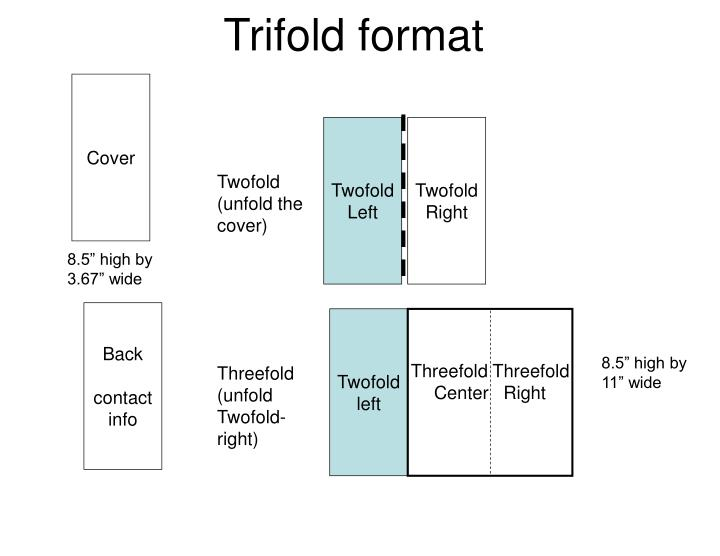 trifold format cover