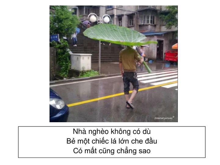 Nhà nghèo không có dù