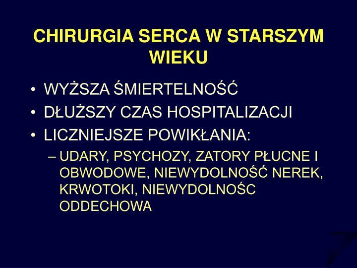 CHIRURGIA SERCA W STARSZYM WIEKU