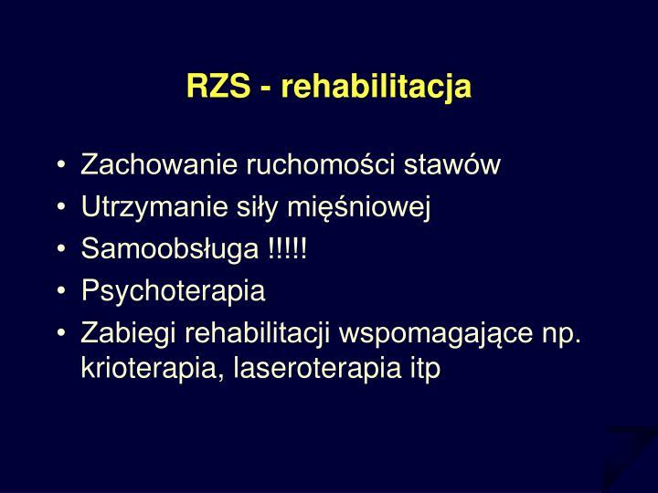 RZS - rehabilitacja