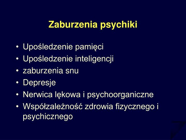 Zaburzenia psychiki