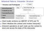 behavioral patterns interpreter structure