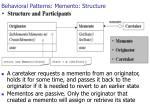behavioral patterns memento structure