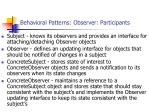 behavioral patterns observer participants