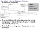 behavioral patterns observer structure