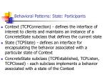 behavioral patterns state participants