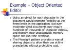 example object oriented editor