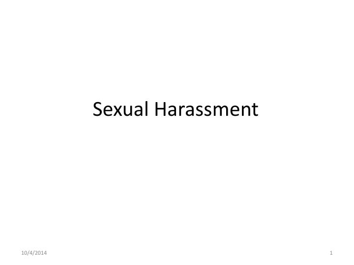 "understanding online sexual harassment essay The challenge of studying sexual harassment in higher education: an experience from the it is generally agreed that ""understanding sexual harassment."