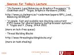 sources for today s lecture